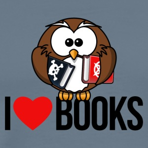 I LOVE BOOKS - Men's Premium T-Shirt