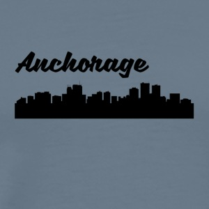 Anchorage AK Skyline - Men's Premium T-Shirt