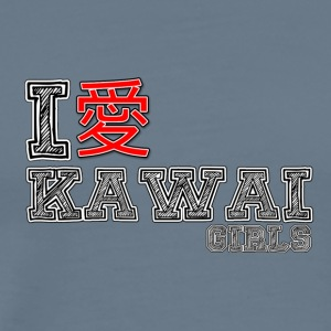 I love Kawai Girls - Men's Premium T-Shirt