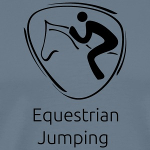 Equestrian_jumping_black - Men's Premium T-Shirt