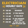 Electrician Hourly Rate Funny Electrician Gift - Men's Premium T-Shirt