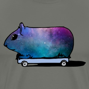 Cosmic Guinea Pig on Wheels - Men's Premium T-Shirt