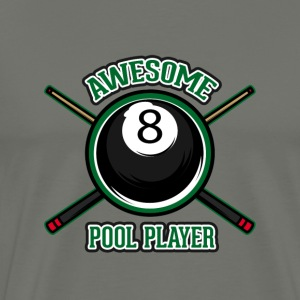 Awesome pool player - Men's Premium T-Shirt