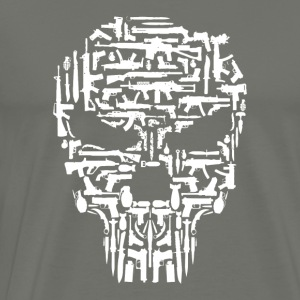 Skull and Guns and Knives Graphic T shirt - Men's Premium T-Shirt