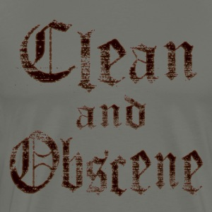 Clean and Obscene words - Men's Premium T-Shirt