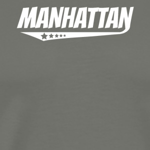 Manhattan Retro Comic Book Style Logo - Men's Premium T-Shirt