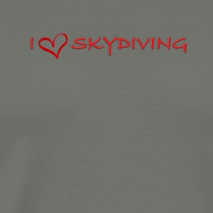 I love skydiving T-shirt/BookSkydive - Men's Premium T-Shirt