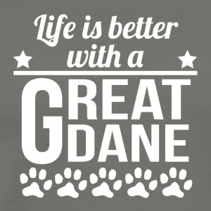 Life Is Better With A Great Dane - Men's Premium T-Shirt