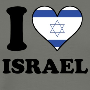 I Love Israel Israeli Flag Heart - Men's Premium T-Shirt