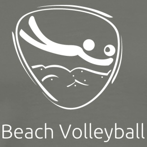 Beach_volleyball_white - Men's Premium T-Shirt