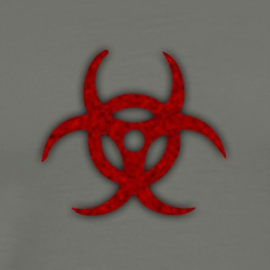 TOXIC BIOHAZARD RED BLOOD SYMBOL - Men's Premium T-Shirt