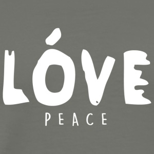 Love Peace - High Fashion Paint Design (White) - Men's Premium T-Shirt