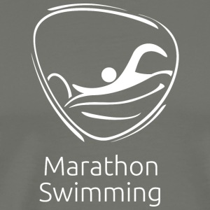 Marathon_swimming_white - Men's Premium T-Shirt