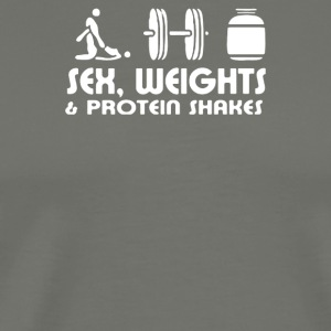 SEX-WEIGHT-AND-PROTEIN-SHAKES HUMOUR - Men's Premium T-Shirt