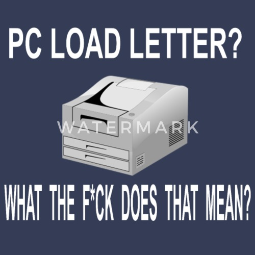 pc load letter office space quote mens premium t shirt spreadshirt