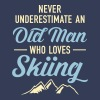 Never Underestimate An Old Man Who Loves Skiing - Men's Premium T-Shirt