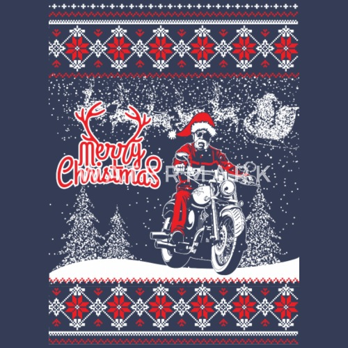 biker christmas sweater by james89 spreadshirt - Biker Christmas