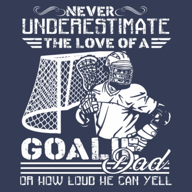 Lacrosse Goalie Dad Shirt - Men's Premium T-Shirt