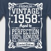 Premium Vintage 1958 Aged To Perfection 100% Genui - Men's Premium T-Shirt