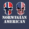Norwegian American Flag Skulls - Men's Premium T-Shirt