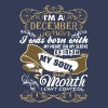 Im A December Woman I Was Born With My Heart - Men's Premium T-Shirt