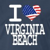 i love virginia beach - white - Men's Premium T-Shirt