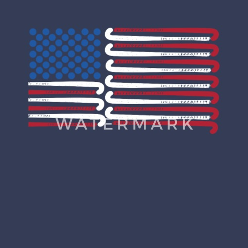 Field Hockey American Flag With Blue Balls For Stars By Hashtagdressed Spreadshirt