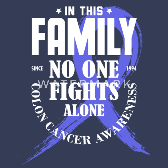 In This Family No One Fights Alone Coloncancer T S Men S Premium T Shirt Spreadshirt