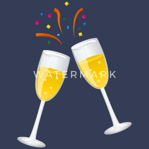 sparkling wine champagner gift new year by spreadshirt