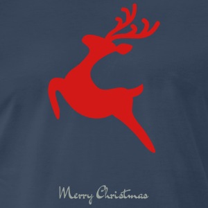 Caribou_8-_Merry_Christmas - Men's Premium T-Shirt