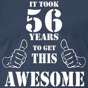 56th Birthday Get Awesome T Shirt Made in 1961 - Men's Premium T-Shirt