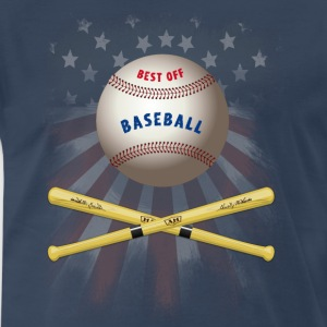 baseball america flagg stars catcher pitcher soft - Men's Premium T-Shirt