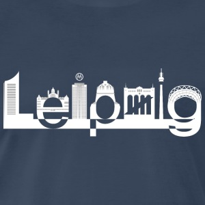 Leipzig Skyline White - Men's Premium T-Shirt