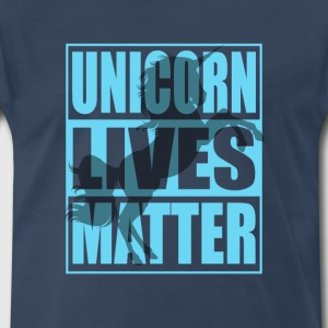Funny Unicorn Lives Matter Humor Quotes Apparel - Men's Premium T-Shirt
