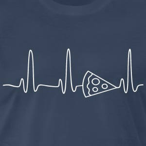 EKG HEARTBEAT PIZZA white - Men's Premium T-Shirt