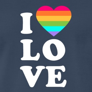 I love LGBT - Men's Premium T-Shirt