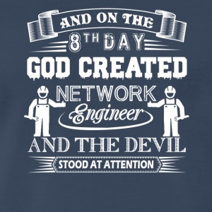 God Created Network Engineer Shirt - Men's Premium T-Shirt
