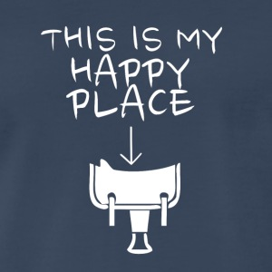 Happy Place Western Riding - Men's Premium T-Shirt