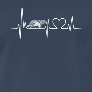 badger heartbeat shirt - Men's Premium T-Shirt