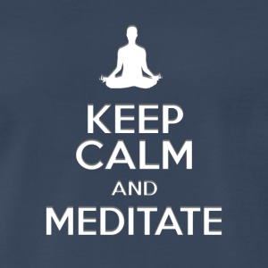 keep calm and meditate, Yoga meditation gifts - Men's Premium T-Shirt