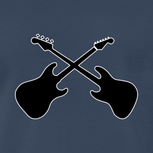 Crossed Guitars with white outline - Men's Premium T-Shirt