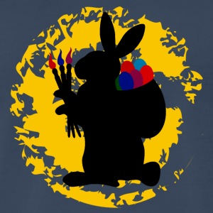 easter rabbit on a splotch - Men's Premium T-Shirt