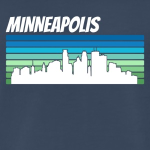 Retro Minneapolis Skyline - Men's Premium T-Shirt