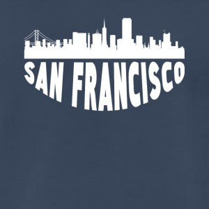 San Francisco CA Cityscape Skyline - Men's Premium T-Shirt