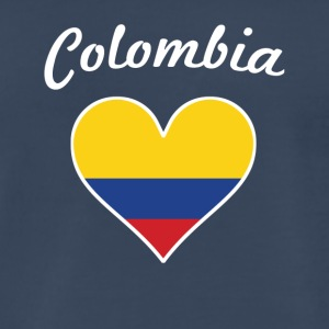 Colombia Flag Heart - Men's Premium T-Shirt