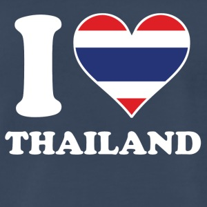 I Love Thailand Thai Flag Heart - Men's Premium T-Shirt