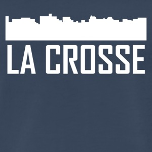 La Crosse Wisconsin City Skyline - Men's Premium T-Shirt