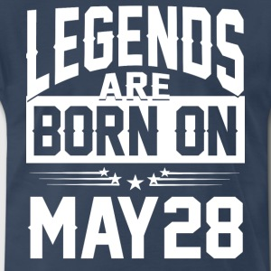 Legends are born on May 28 - Men's Premium T-Shirt