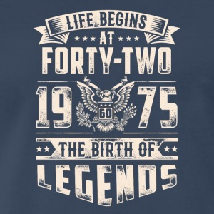Life Begins At Forty Two Tshirt - Men's Premium T-Shirt