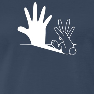 Bunnys Shadow Puppet - Men's Premium T-Shirt